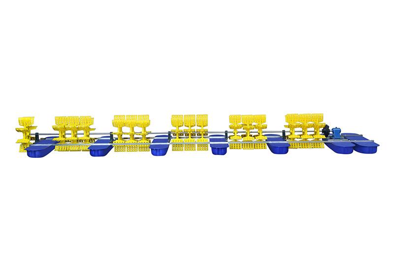 柴油机驱动的多叶轮水车式增氧机